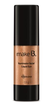 Iluminador Facial Liquid Sun Make B., R$ 53,99
